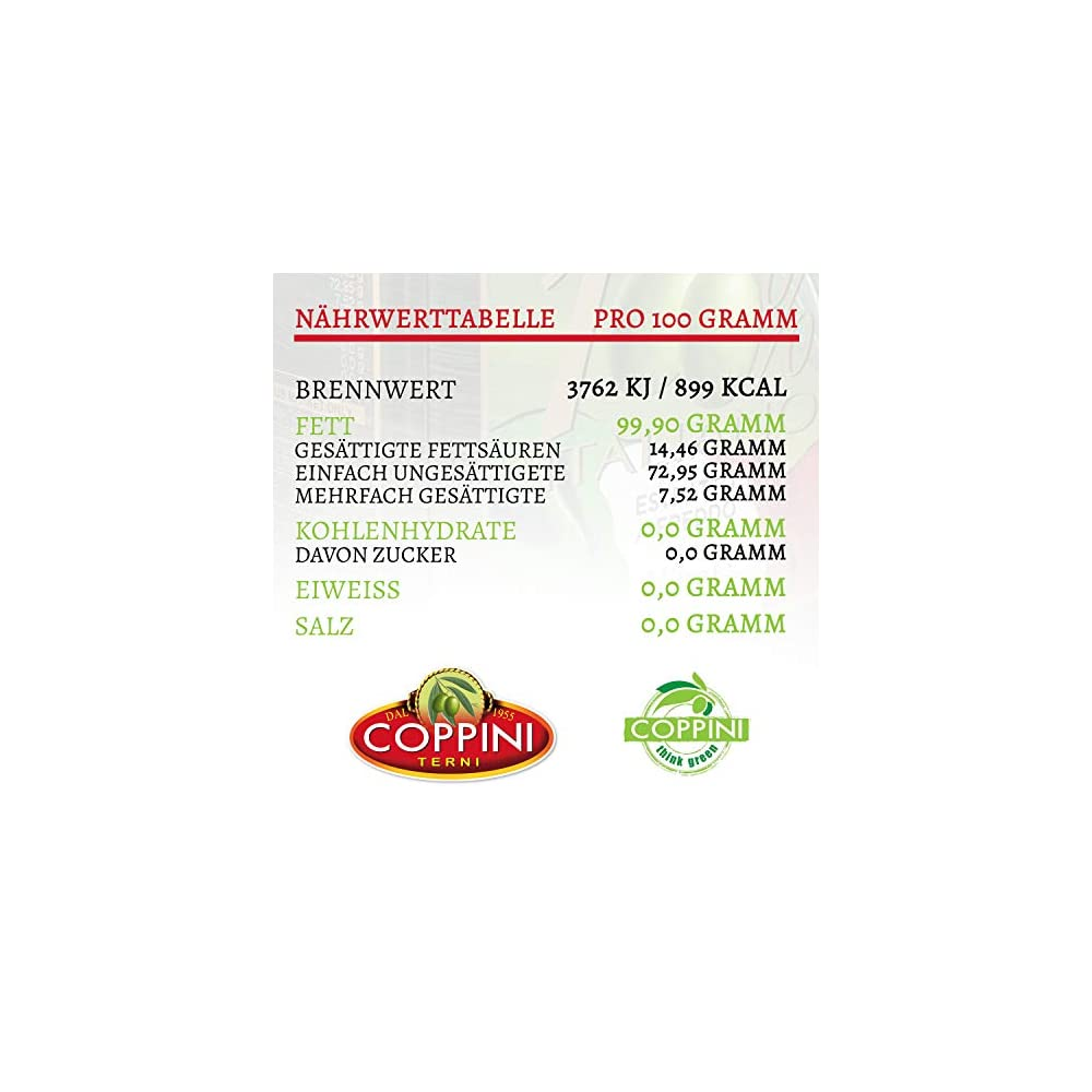 Coppini Terni Olivenl 750ml 100 Italienisches Natives Olivenl Extra Mildes Und Fruchtiges Olive Oil Aus Umbrien Premium Olivenl Kaltgepresst