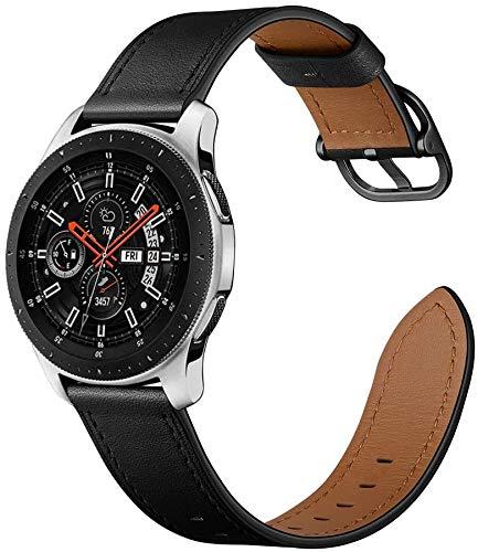 ANYE Compatible con Correa Samsung Galaxy Watch 46mm Piel Correas 22mm Cuero Reloj Samsung Gear S3 Frontier/Classic Pulsera para Huawei Watch GT 2 46mm,Correas de Repuesto Samsung Galaxy Watch 3 45mm