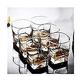 Home+ Vasos de Whisky, 2 Unids/Conjunto De Copas De Vino Transparentes Cuadradas, Gafas, Café, Fiesta De Barra De Casas, Conjunto De Vinos De Bodas (Color : 2pcs)