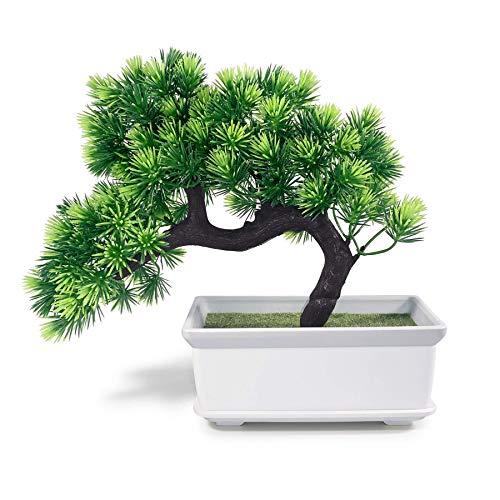 Artificial Plants Fake Bonsai Tree Juniper for Home Living Room Decor