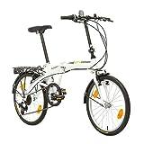 Multibrand, PROBIKE FOLDING 20, 20 pollici, 310 mm, City Bike pieghevole, 6 velocità, Uni...