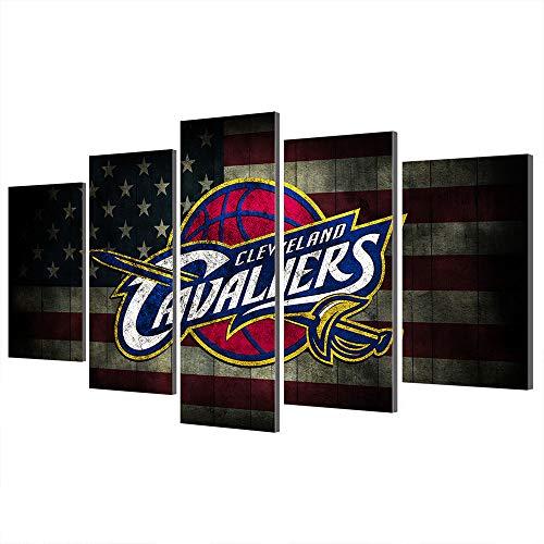 NBA Chicago Bulls Cleveland Cavaliers Charlotte Hornets Stampe su Tela Poster Sports Decor Incorniciato (Art 32,Overall 80' W x 40' H)