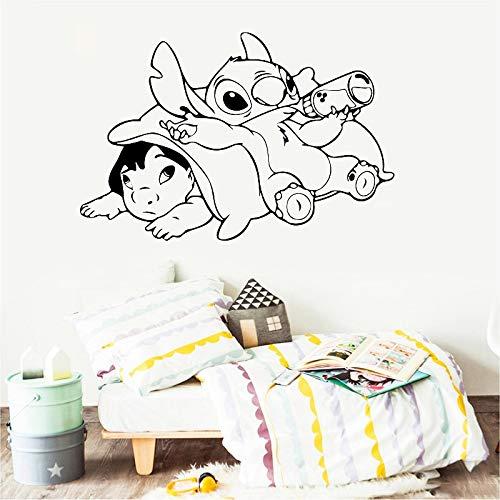 BailongXiao Rahmenlos-Cartoon Anime Wandaufkleber Jungen und Mädchen Raumdekor