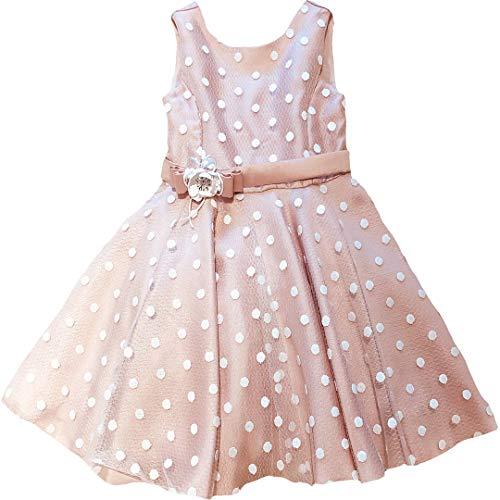 Mayoral ABEL & Luna feestelijke jurk tule roze stippen 5005