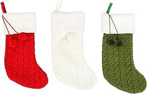 FairOnly Sac de Rangement en Tricot pour Sapin de Noël
