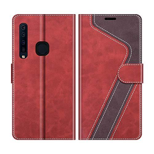 MOBESV Handyhülle für Samsung Galaxy A9 2018 Hülle Leder, Samsung Galaxy A9 2018 Klapphülle Handytasche Hülle für Samsung Galaxy A9 2018 Handy Hüllen, Rot
