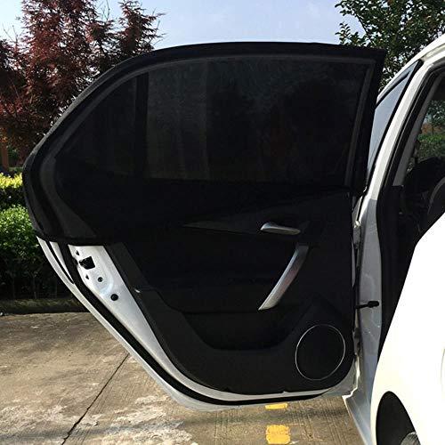 Huien 2 stks auto achterruit zonnescherm uv mesh zonneschermen blinde kinderen zonnescherm blocker zwart dropship, zwart, china