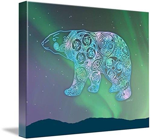 Imagekind Wall Art Print Entitled Celtic Polar Bear by Kristen Fox