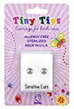 STUDEX Tiny Tips Stud Earrings Stainless Steel Silver 3mm Ball Hypoallergenic for Little Ears