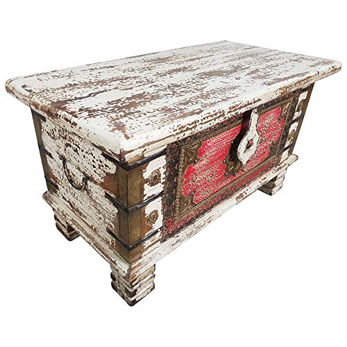 Indoortrend.com Truhe Kiste Holztruhe Box 80 Vintage Massiv Shabby Chic aus Handarbeit Unikat 6 - 2