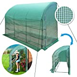 BenefitUSA ZH0124 Green New Large Walk-in Gardening Sunshade Greenhouse Outdoor, 10 x 5 x 7