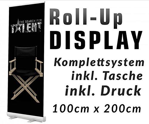 Rollup Display 85x200cm Rollup Werbedisplay Werbeständer Roll up Bannerdisplay Ständer Aufsteller Werbebanner 12A07_2, Roll up Größe:100cmx200cm;Designerstellung:nein