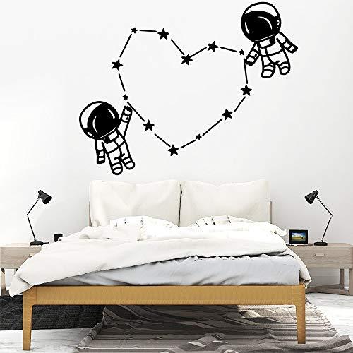 Tianpengyuanshuai Creative Space Astronaut Wandaufkleber Vinyl Home Decoration Kinderzimmer Dekoration Aufkleber 42X42cm