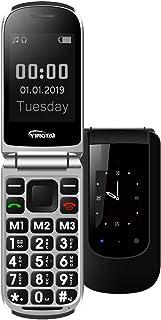 YINGTAI T09 Teléfono Móvil de Tapa con Teclas Grandes para Mayores con SOS Botones