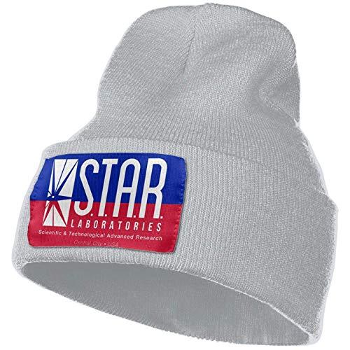 JONINOT Star Laboratories S.T.A.R. Labs Strickmütze Warme Hüte Mütze Schädelkappe Winter Täglich Mütze Strumpfhut