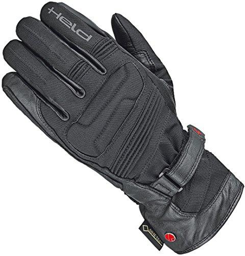Held Motorradhandschuhe lang Motorrad Handschuh Satu II Damen Gore-Tex® Handschuh schwarz 8, Tourer, Ganzjährig, Leder/Textil