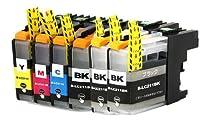 【CLOVERショップ】 brother(ブラザー)インクカートリッジ LC211BKー4色セット+ブラック 2本セット残量表示機能付 純正互換インクカートリッジ 【安心一年保障付き】 ショクホン