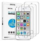 OMOTON [3 Stück] Panzerglas für iPod Touch 7 2019 (Neuestes Modell) / iPod Touch 6 und iPod Touch 5, Anti-Kratzer, Anti-Öl, Anti-Bläschen, 9H Härte, [2.5D]