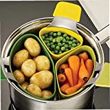 3 Pz Steamer Basket Silicone Steam Cooker per La Verdura Cooking Cooking Set Pentole Accessori Cucina Stoviglie
