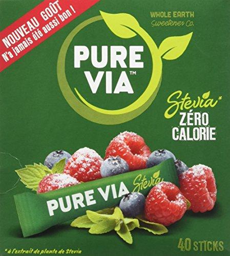I-Pure Via Stevia Sweetener, zero calories - Ibhokisi lezinti ezingama-40