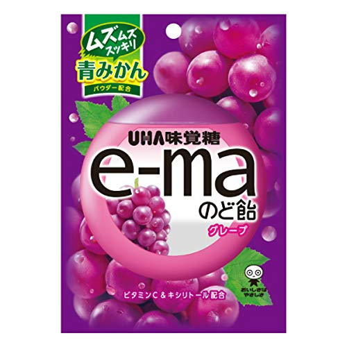 UHA味覚糖 e-maのど飴袋 グレープ 50g 72コ入り