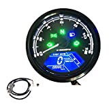 KKmoon - Tachimetro per moto, display digitale LCD, 0-12000