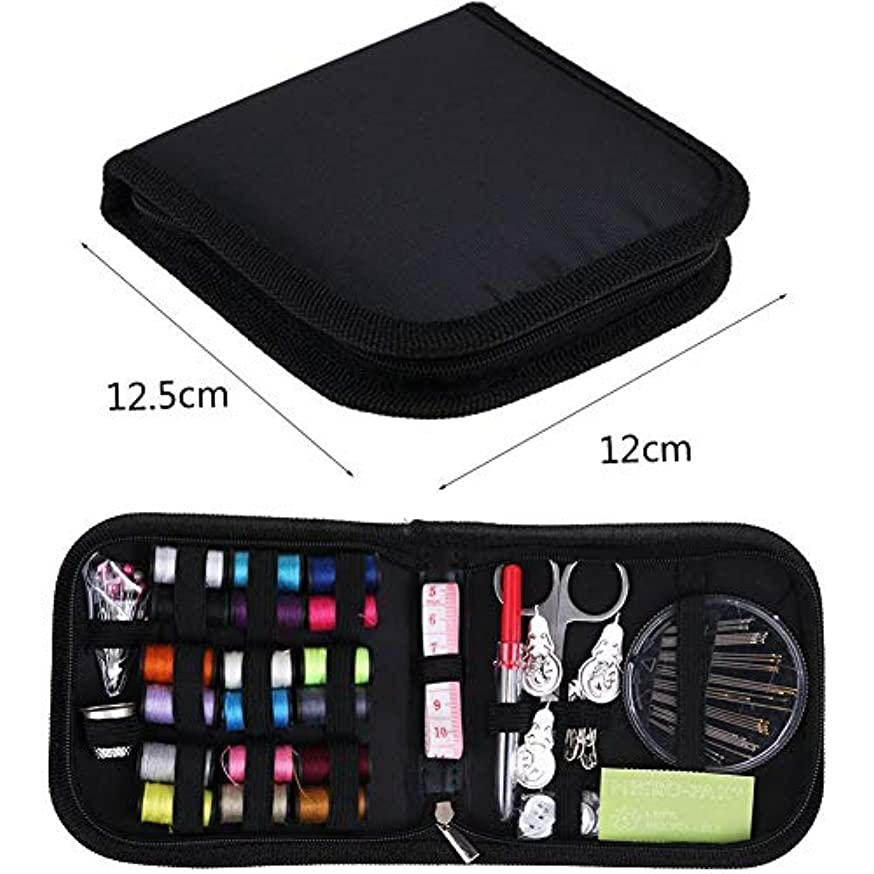 Games&Tech 70Pcs Deluxe Portable Emergency Sewing Kit Professional Sewing Set for Home/Travel Emergency Clothing Repairs