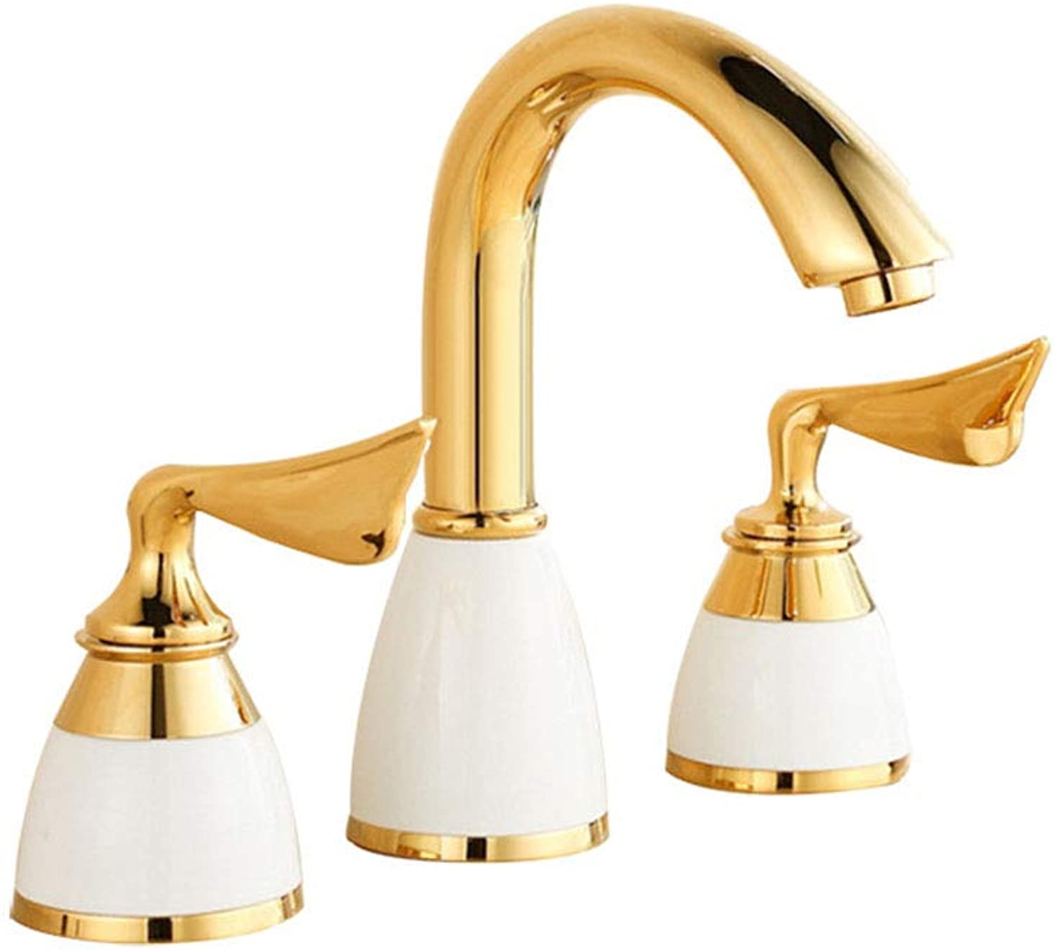 Yaoyaoxiang Split three-hole faucet, hot and cold double faucet, all-copper European jade faucet,B