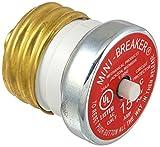 Bussmann BP/MB-15 15 Amp Edison Base Plug Fuse Circuit Breaker, 125V...