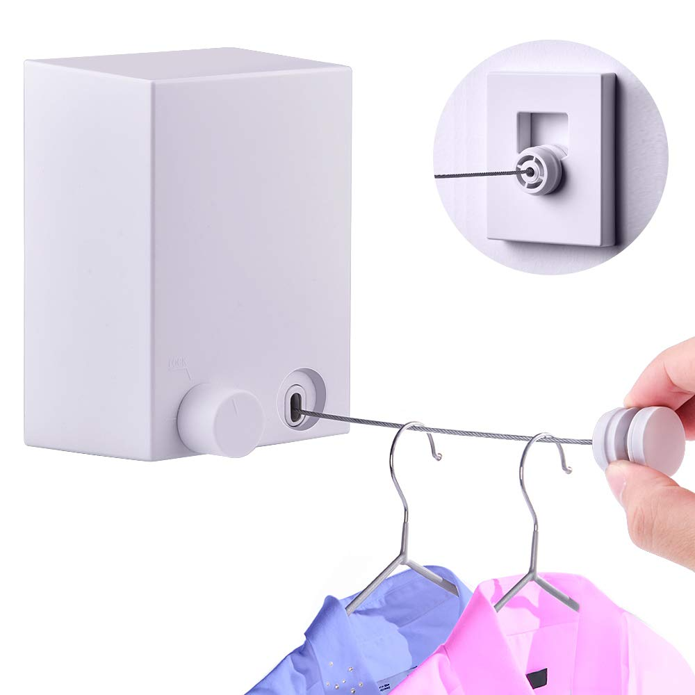 Hisome Retractable Clothesline Adjustable Stainless