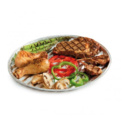 Barbecook Plat Barbecue alu-Rond, Gris, 35x35x2,5 cm