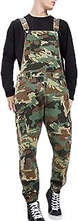 HaiDean Men Overalls Overalls Work Casual Jumpsuit Pants Jumpsuit Modern Jeans Lightwash Suspenders Jeans Denim Latzshorts...