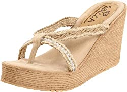 Jewel Wedge Natural Sandal