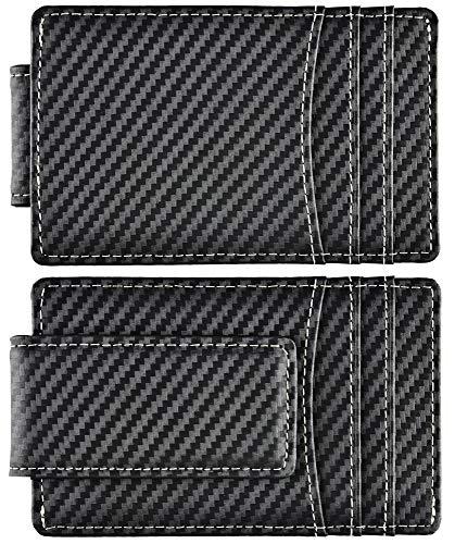 Best Carbon Fiber Money Clip Wallets For Men Front Pocket Wallet Rfid Blocking Small Slim Thin Minimalist Strong Magnet Wallet Clip Credit Card Holder
