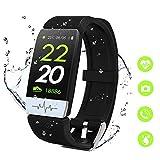 MTJJ Smartwatch Orologio Fitness Tracker con Cardiofrequenzimetro Contapassi Calorie Sportivo Monitor del Sonno IP67 Impermeabile Orologio per Donna Uomo Bambino con iOS Android