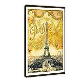 Póster vintage de la Torre Eiffel de Paris Life Francia, de viaje, de 60 x 90 cm