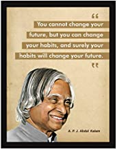 Chaka Chaundh - APJ Abdul Kalam Quotes Poster – Abdul Kalam photo frame for OFFICE WALL, SCHOOL, STUDY ROOM, COLLEGE, INSTITUTE, STUDENT, ENTREPRENEUR, CLASSROOM & HOME - Motivational Frames For Office - abdul kalam gifts - Abdul kalam Painting with Frame - Abdul Kalam framed painting (34 cm x 27 cm x 4 cm)