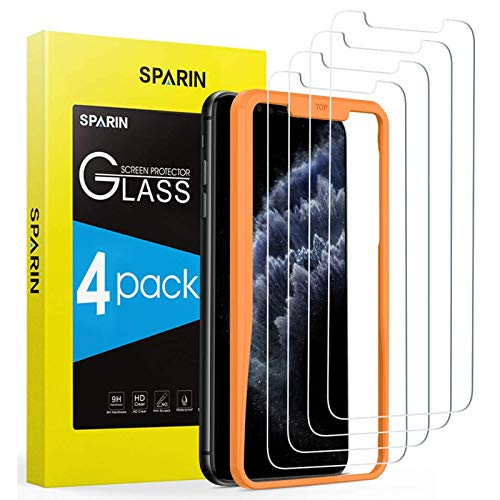 SPARIN 4 Pack Screen Protector Compatible with iPhone 11 Pro Max iPhone Xs Max, Tempered Glass, High Responsive