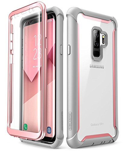 i-Blason Case for Galaxy S9+ Plus 2018 Release, Ares Full-body Rugged Clear Bumper Case with Built-in Screen Protector (Pink)