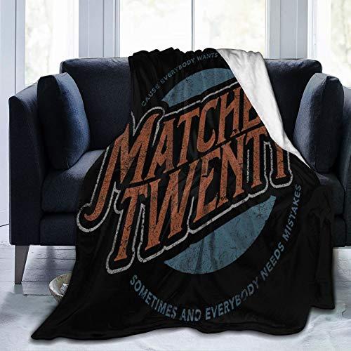 Ultra-Soft Micro Fleece Blanket Luxury All Seasons Warm Microfiber Blanket for Bedding Bed Camping Blanket Travel Matchbox Twenty Logo Fleece Blanket 60'X50'
