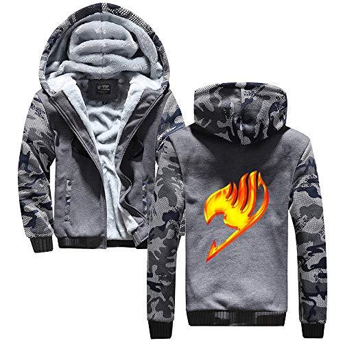 Unisex Fairy Tail Sudadera con Capucha Hip Hop Moda Chaquetas Mantener Caliente Moda Jacket Coat