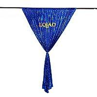 LQIAO ロイヤルブルー スパンコール 背景 7x7フィート キラキラ 写真 背景 写真 スパンコール 背景 カーテン ウェディング イベント ホーム シマー ドロップ デコレーション