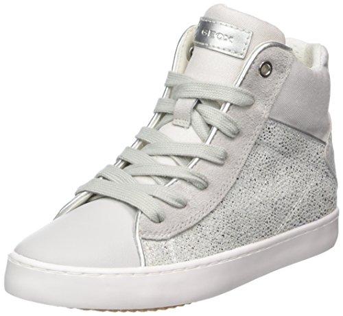 Geox Mädchen J Kilwi Girl H Hohe Sneaker, Silber (Lt Grey/Silver), 38 EU