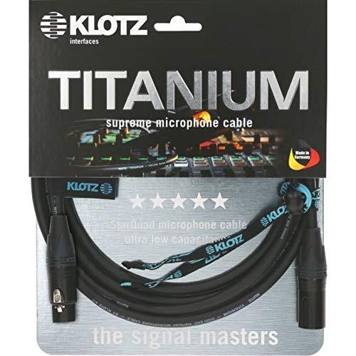 Klotz TI-M1000 - Cable de micrófono (titanio, 10 m)