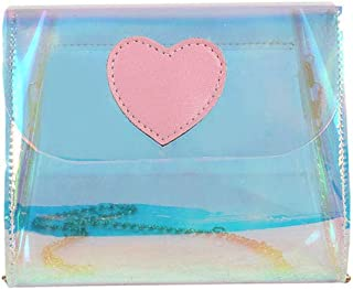 Howoo Damen Klein Transparent Schultertasche Mini Sommer-Strandtasche Kettenriemen Umhängetasche Beiläufig Handtasche