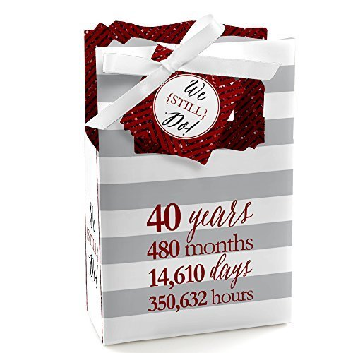 We Still Do - 40th Wedding Anniversary Party Favor Boxes - Set of 12