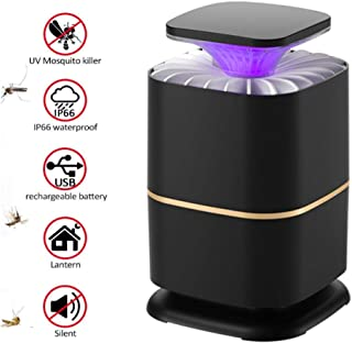 AQMTN Lámpara Antimosquitos,Portátil 2 en 1 Lámpara Camping y Noche Lámpara LED UV Mosquitera Eléctrica USB Recargable Silencioso contra Mosquitos Polillas Zancudos Moscas y Mas Insectos.