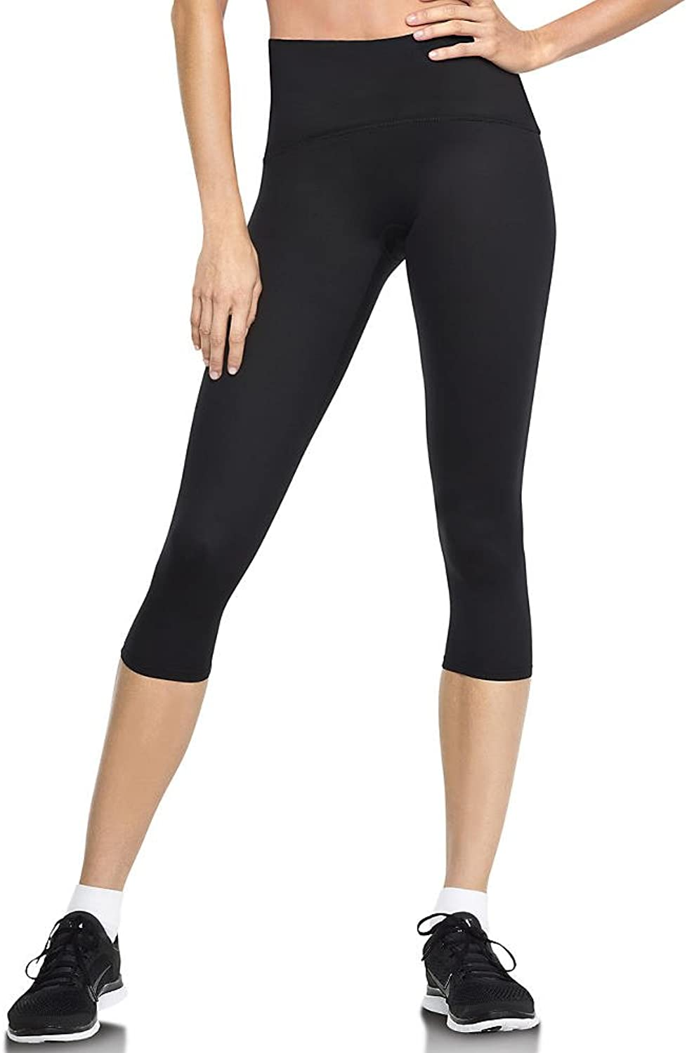 Spanx Women's Active Compression Cropped Leggings, Black, M