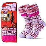 JARSEEN Térmicos de Invierno Calcetines de Lana Super Calor Gruesa Calentar Suave Cómodo Calcetines de Mujer Morado, 37- 42