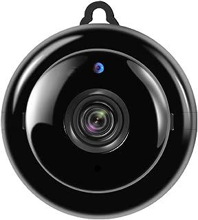 BYBYC Monitor de Seguridad casera Mini WiFi cámara de visión Nocturna de detección de Movimiento de Interior al Aire Libre Video RecorderNegro